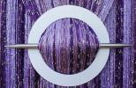 Provázková záclona Luxury - tmavě fialová - 250cm 300cm