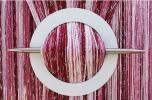 Spona na záclonu kulatá - výběr z 5 barev - Bordó